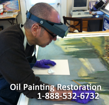 Restoring an oil painting